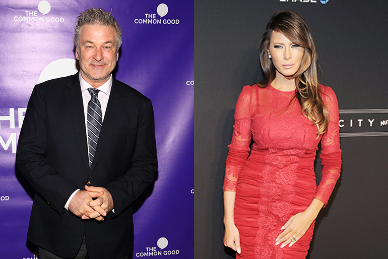 Alec Baldwin and Melania Trump, Photo: ©PATRICKMCMULLAN.COM