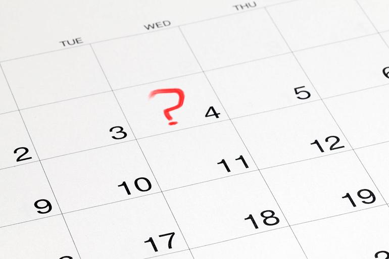 July 4 Wednesday calendar