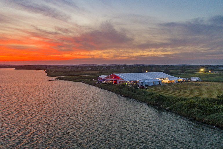 Dan's GrillHampton and Taste of Two Forks sit right next the beautiful Mecox Bay, Photo: James Katsipis