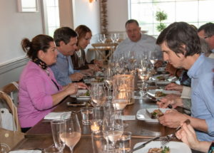 Guests dined on delectable dishes