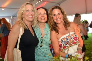 Guests Sharon Bakes, Helen and Laura Lehmuller enjoying the festivities