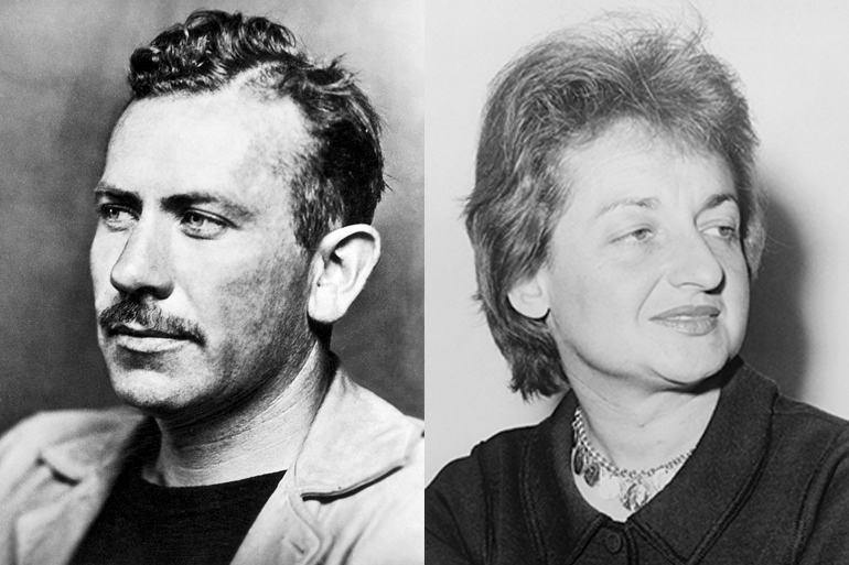 John Steinbeck and Betty Friedan, Photos: McFadden Publications, Fred Palumbo