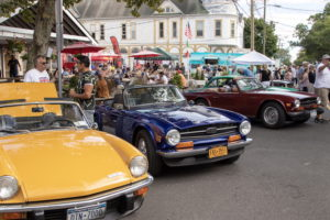 Classic cars on display