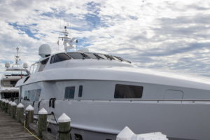 Exquisite luxury yachts were on view at the festival