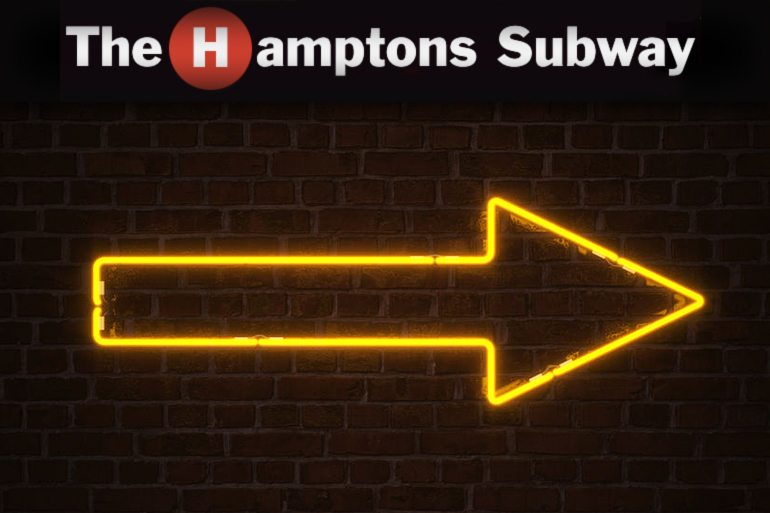 Hamptons Subway has added neon arrows to stations