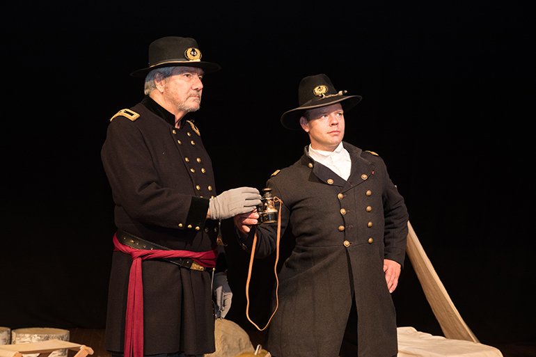 "Robert Nelson and Christopher Levi in Boots on the Ground Theater's ""The Red Badge of Courage,"" Photo: Mary Godfrey"