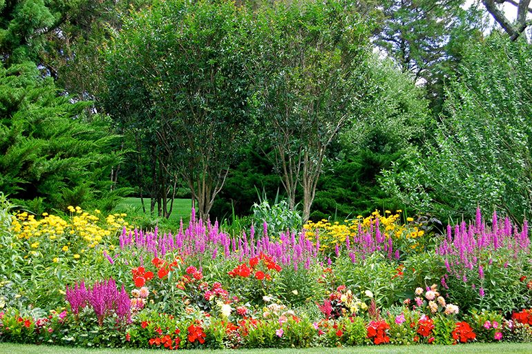 Colorful Unlimited Earth Care flower garden int he Hamptons