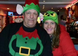 John Womag and Kimberly Esperian show off their Holiday style