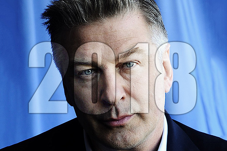 Alec Baldwin approved press photo with 2018 on top