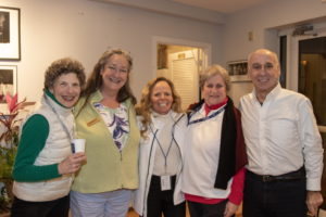 Volunteers at Bay Street Theater: Arline Blake, Teresa DeBerry, Cathy Weiss, Louise Drillich, Jerry Pollack