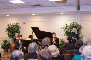 The Redman-Mueller-Robins Trio played for a full house