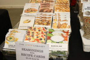 Owner of The Spice Cabinet, Jean Venezia, offers flavored salts, flavored rice, seasoning packets with recipe cards and more