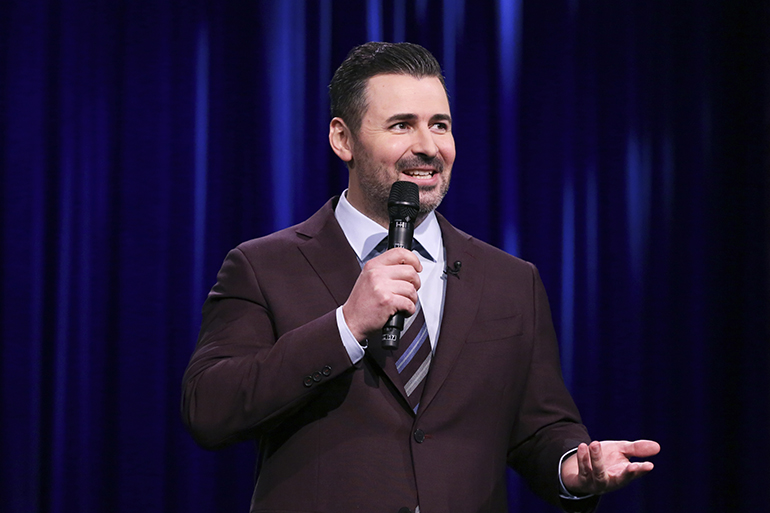 Comedian Pete Lee performing on The Tonight Show Starring Jimmy Fallon, Photo: Andrew Lipovsky/NBC