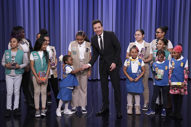 "Girl Scout Troop 6000 on 'The Tonight Show Starring Jimmy Fallon,"" Photo: Andrew Lipovsky/NBC"