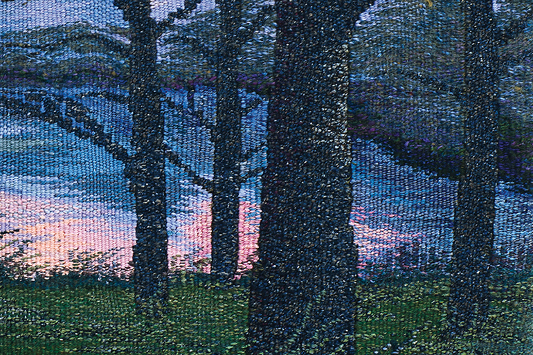 """April 26, 2019 Dan's Papers cover art """"Lise's Morning"""" (detail) by Pam Topham"""