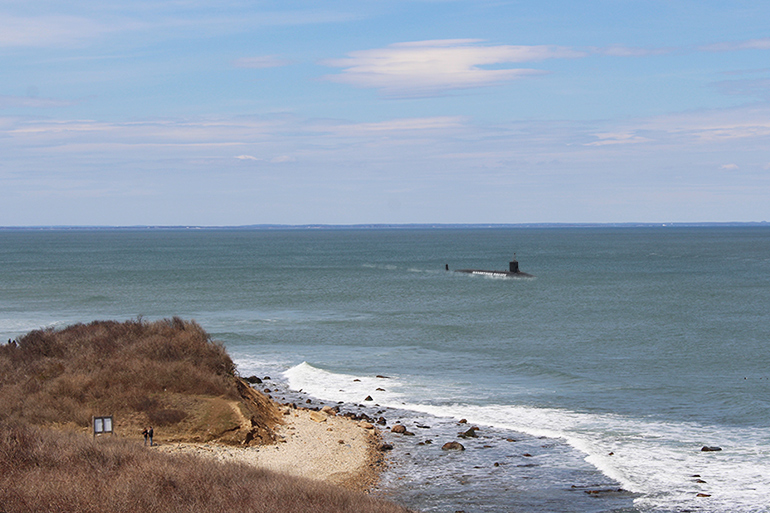 Hamptons Police Department submarine spotted off Montauk, April 2019