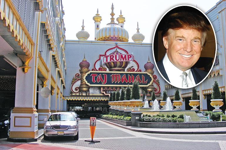 Taj Mahal Casino adn Donald Trump, ca. 1998