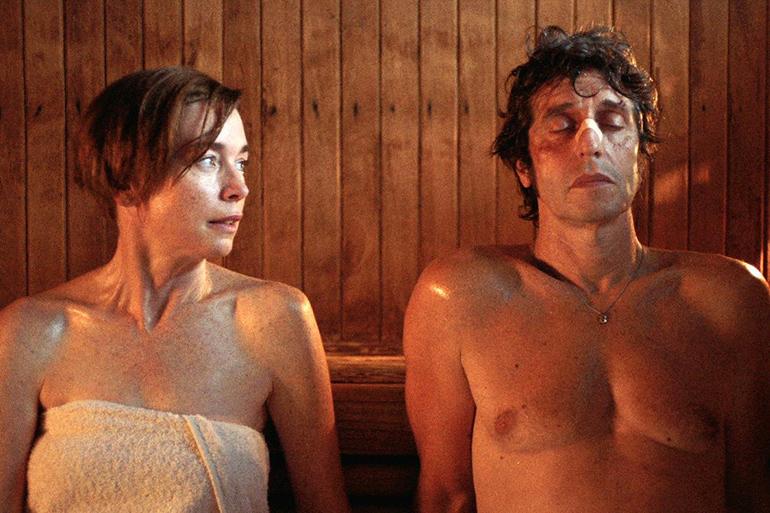 "Julianne Nicholson and Diego Peretti in ""Initials SG"""