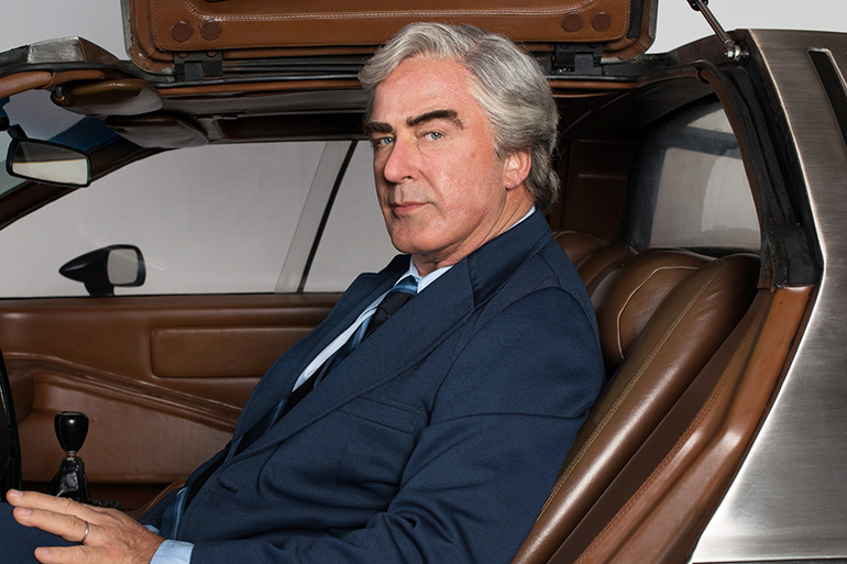 "Alec Baldwin as John DeLorean in ""Framing John DeLorean"""