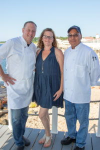 Claudio's team- Chef Franklin Becker-Consulting Chef, Lara Pizzanelli-GM & Director of Events, Juan Guzman-Director of Purchasing