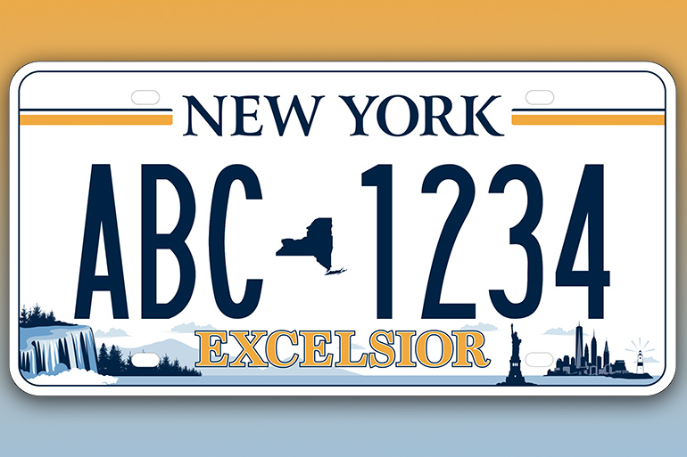 New New York license plate featuring Montauk Lighthouse, Plate 5