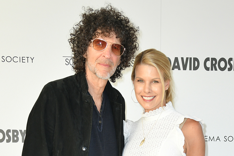 "EAST HAMPTON, NY - JULY 13: Howard Stern and Beth Stern attend Sony Pictures Classics & The Cinema Society Host A Hamptons Screening Of ""David Crosby: Remember My Name"" at United Artists East Hampton Cinema on July 13, 2019 in East Hampton, NY. (Photo by Jared Siskin/PMC) *** Local Caption *** Howard Stern;Beth Stern"