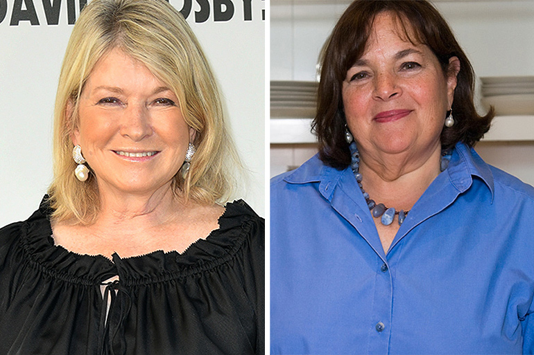 Martha Stewart and Ina Garten in separate photos