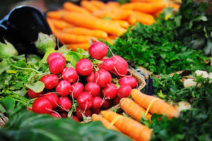 fresh organic vegetables eco food on market