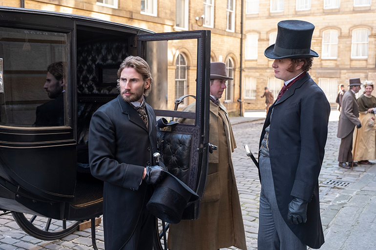 "Edward Holcroft and Harry Michell in ""The English Game"" on Netflix"