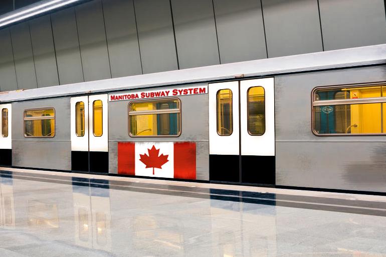 Manitoba Subway car on Hamptons Subway lines