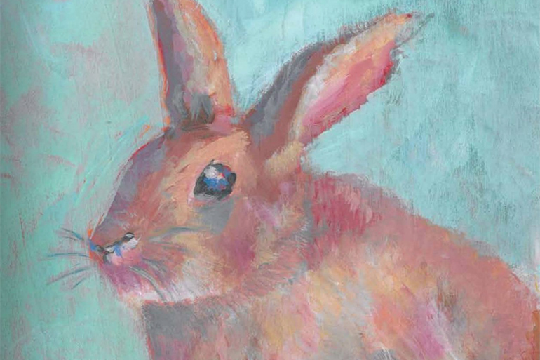 April 10, 2020 Dan's Papers cover art (detail) by Carol C. Young - Easter Bunny