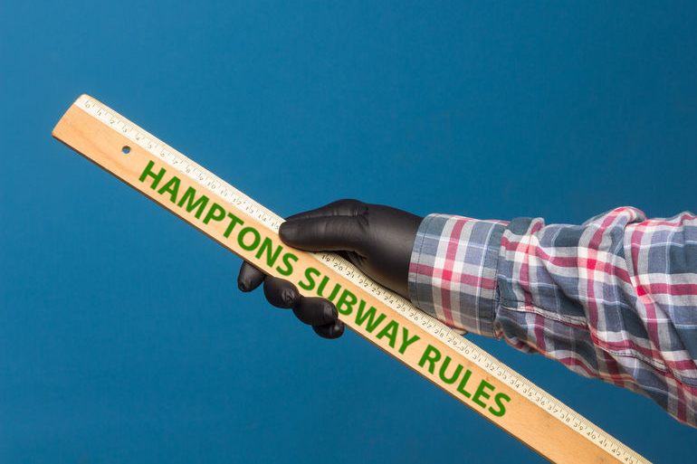 Hamptons Subway social distancing ruler