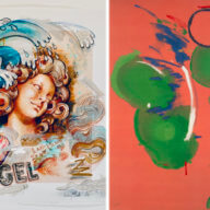 """Cupcake Angel Splash"" by Audrey Flack, Art by Helen Frankenthaler, Images: Courtesy MM Fine Art, Quogue Gallery"