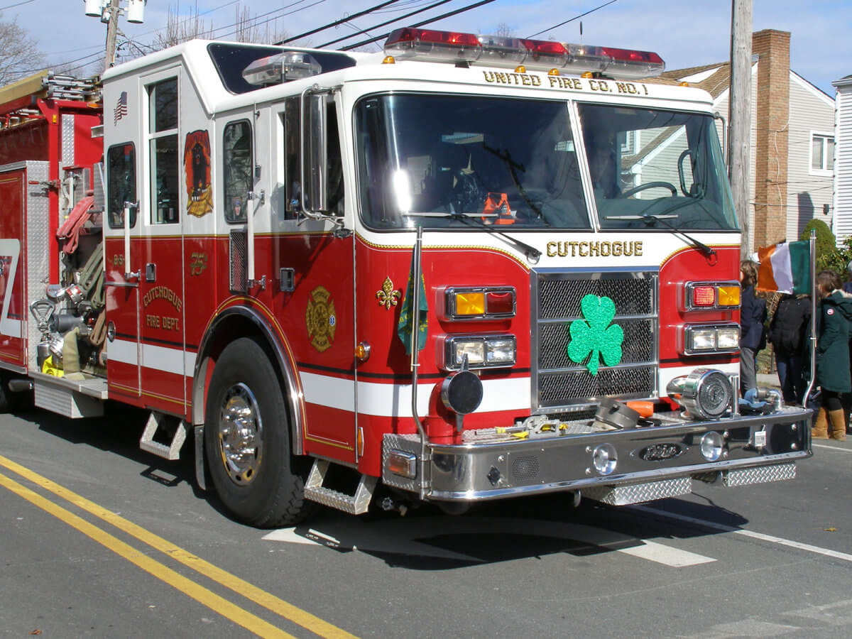 The North Fork Chamber of Commerce and the Cutchogue Fire Department celebrated the Emerald Isle on Saturday, with their 14th annual St. Patrick's Day parade. Kilts and bagpipes, drums and uniforms, and even a marching pig were the order of the day.