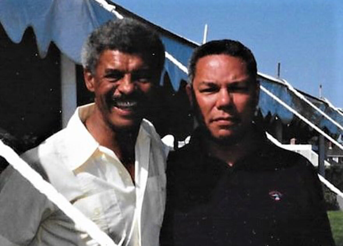 William Pickens III with Colin Powell