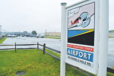 East Hampton Airport sign