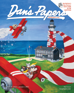 Carol Luz's art on the cover of the December 25 + January 1, 2020 Dan's Papers issue.