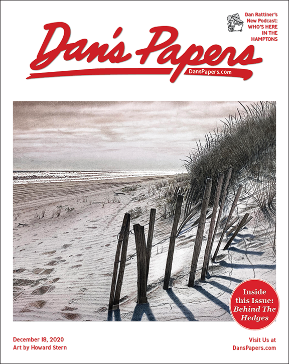 Howard Stern's art on the cover of the December 18, 2020 Dan's Papers issue.