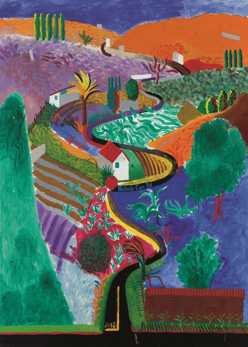 "David Hockney's ""Nichols Canyon."""