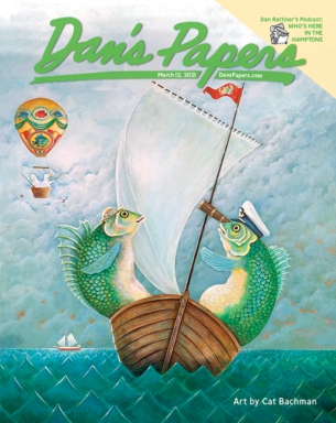 Cat Bachman's art on the cover of the March 5, 2021 Dan's Papers issue.