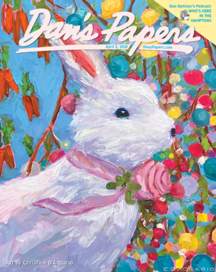 Christine D'Addario's art on the cover of the April 2, 2021 Dan's Papers issue.