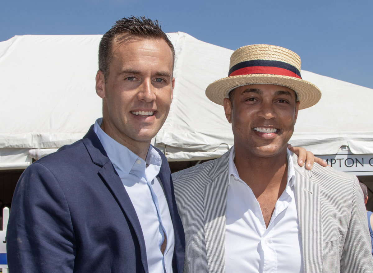 Tim Malone and Don Lemon at the 2018 Hampton Classic Horse Show