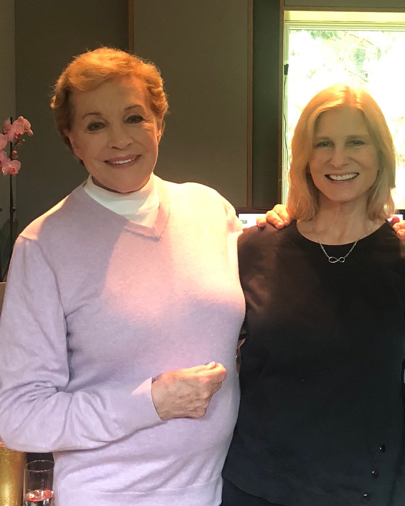 Dame Julie Andrews and Cynthia Daniels