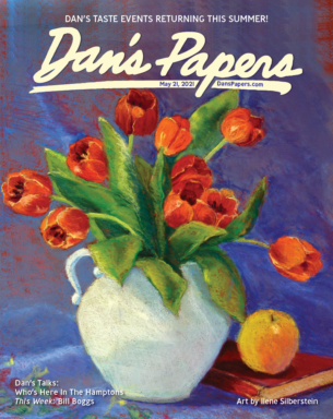 Ilene Silberstein's art on the cover of the May 21, 2021 Dan's Papers issue