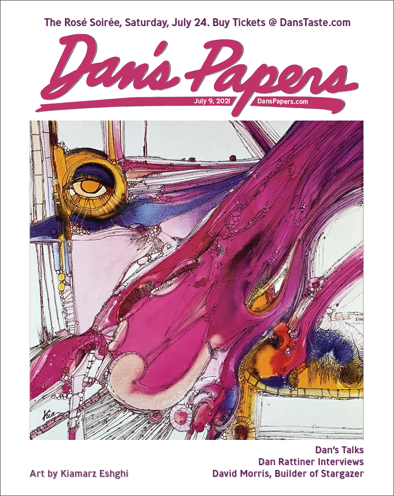 """""""Vision No. 1"""" by Kia Eshghi on the cover of Dan's Papers July 9, 2021 issue"""