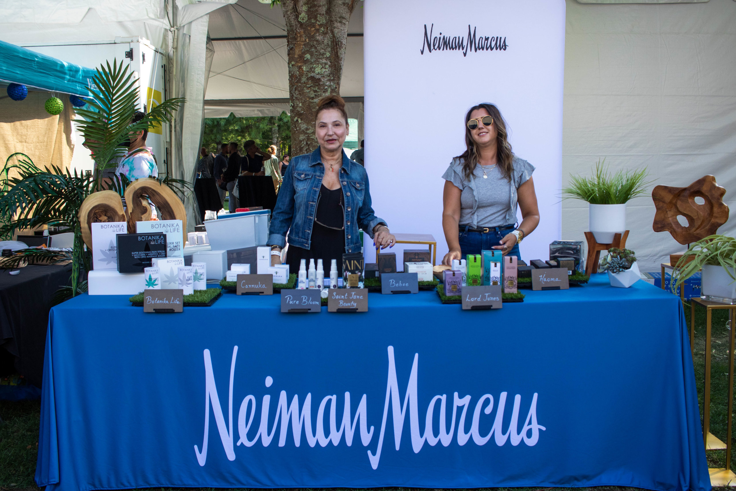 The Neiman Marcus booth at Hamptons Cannabis Expo