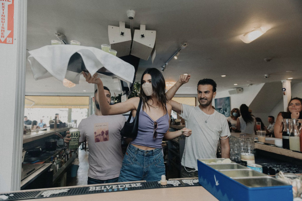 Kendall Jenner and Zach Erdem get the party going at 75 Main