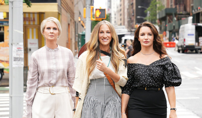 """Cynthia Nixon, Sarah Jessica Parker and Kristen Davis in """"And Just Like That..."""""""