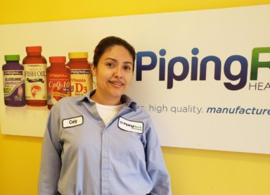 Cely Portillo Majano, an associate at Piping Rock, enjoys the benefits of working at the company.