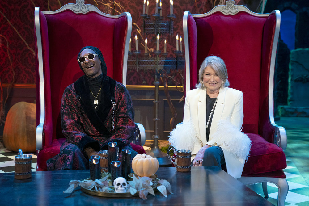 Snoop Dogg and Martha Stewart will celebrate Halloween with a new food competition special on Peacock